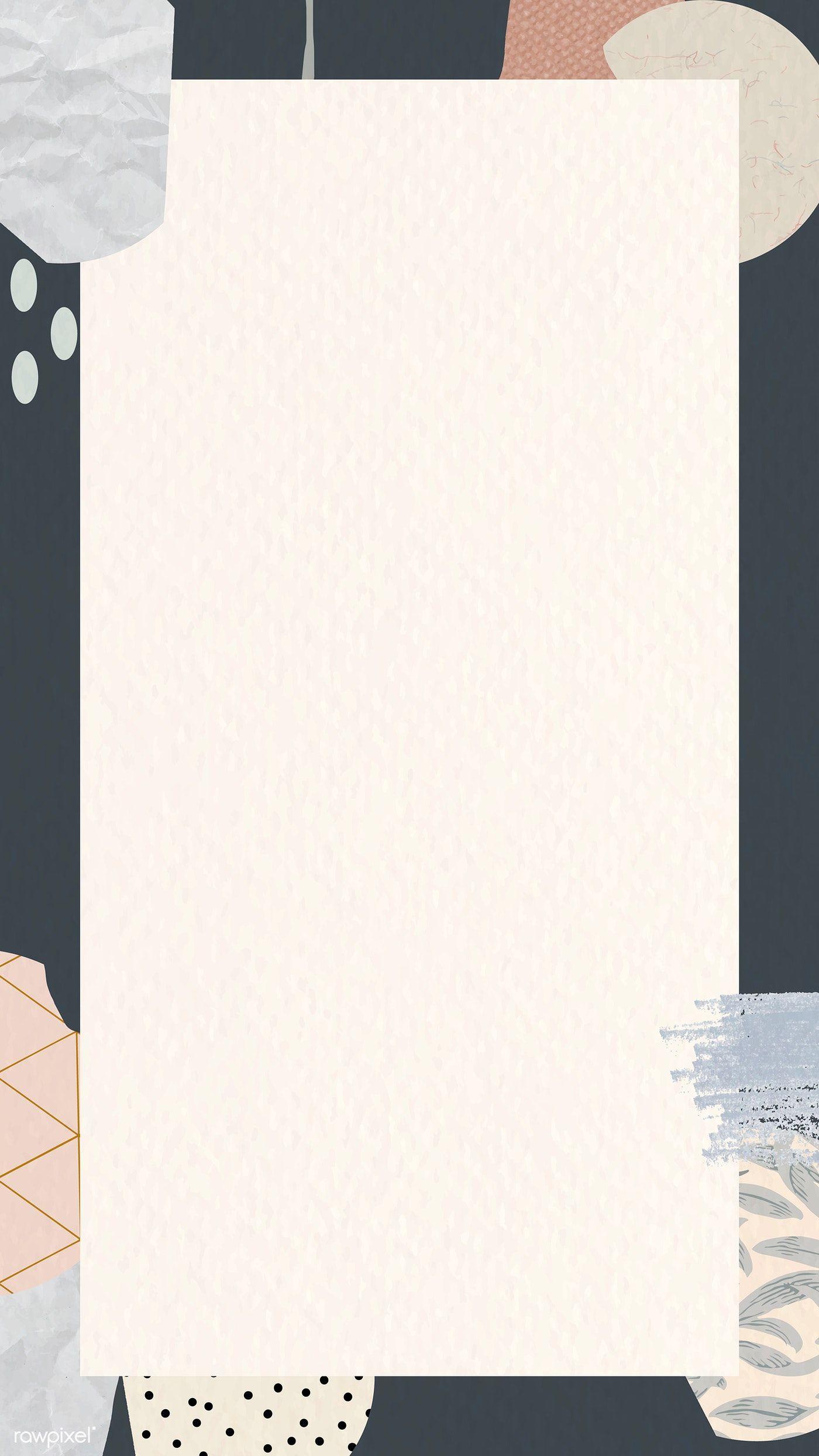 Download premium vector of Terrazzo patterned mobile phone wallpaper