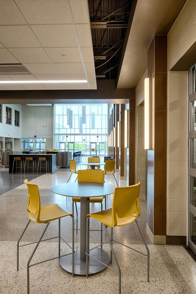 Burnsville High School Commons...natural Light, Windows, Colorful, Furniture,  Architecture, Interior Design, Education