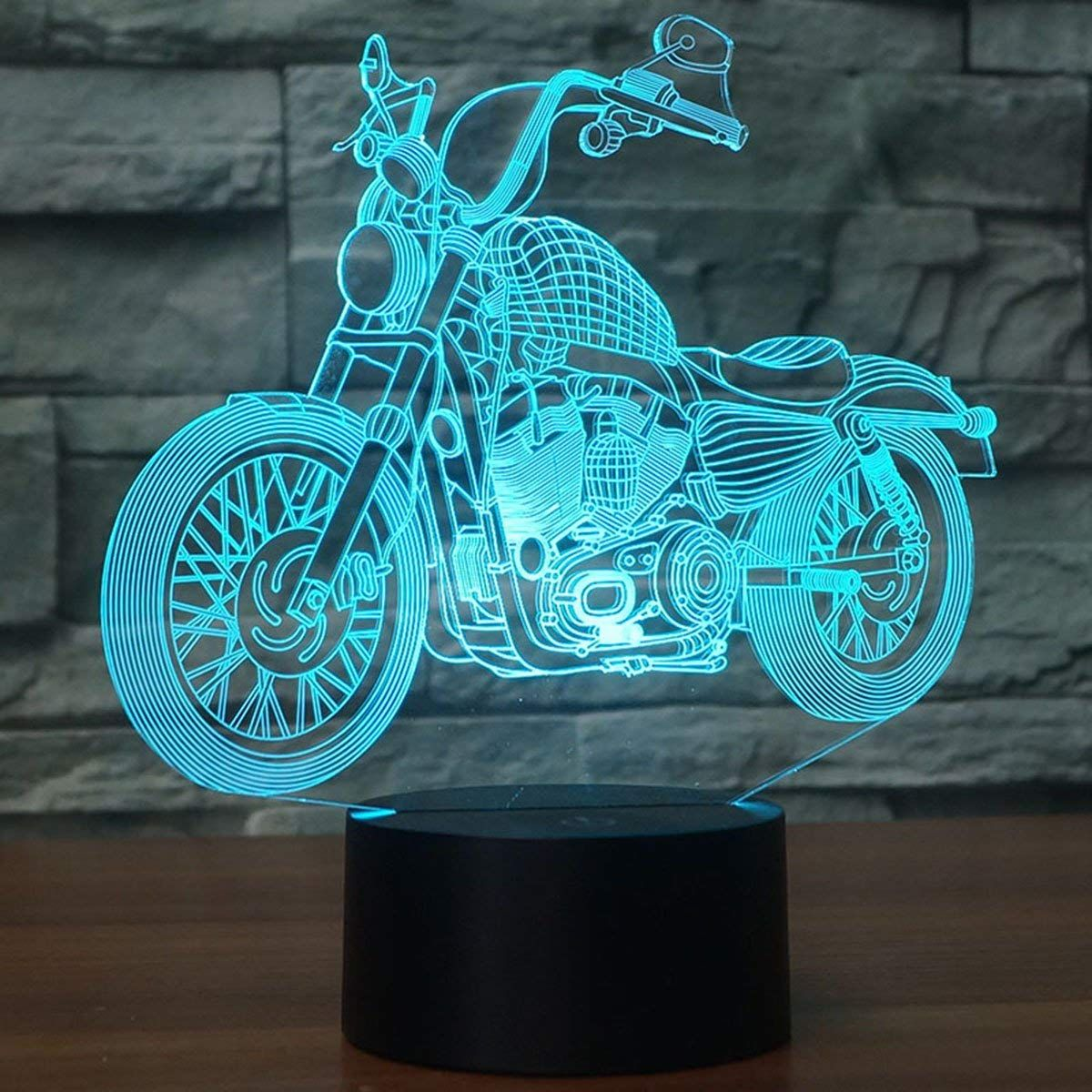Usb Led 3d Lamp Led Motorcycle Model 3d Sensor Night Light Atmosphere Lamp As Bedroom Decoration Amazon Com