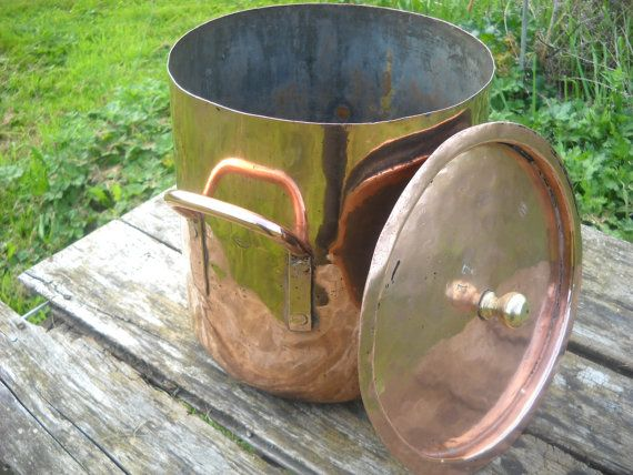 J Gaillard French Antique Copper Stock Pot Very Old And
