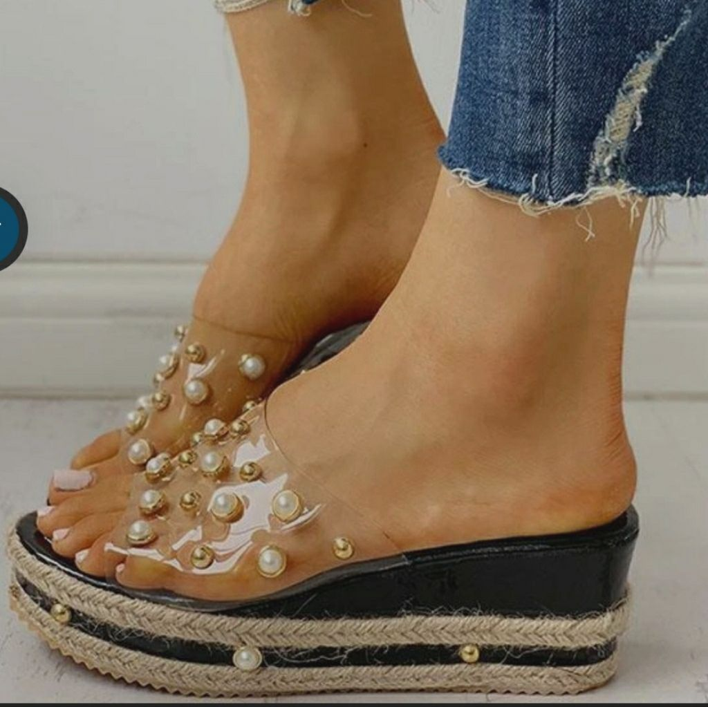 Details about  /New  Women/'s Chic Pointy Toe Pearls Block High Heels Ankle Boots Size 35-43