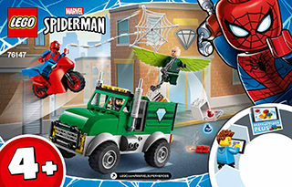 Vulture S Trucker Robbery 76147 Lego Super Heroes Digital Building Instructions Lego Com In 2020 Lego Lego Spiderman Building Instructions