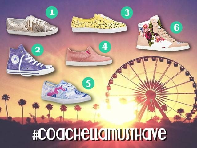 "Long days at #Coachella festival grounds call for some seriously stylish ""Pumped Up Kicks"" >> Check out our fashion sneaker picks on FromVA2CA"