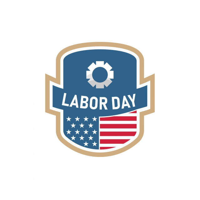 Labor Day Typography America Badge Blue Png And Vector With Transparent Background For Free Download Typography Badge Design Badge