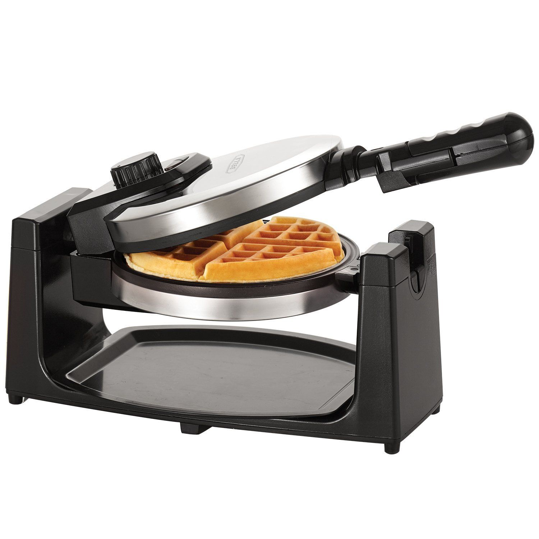 Bella classic rotating belgian waffle maker polished