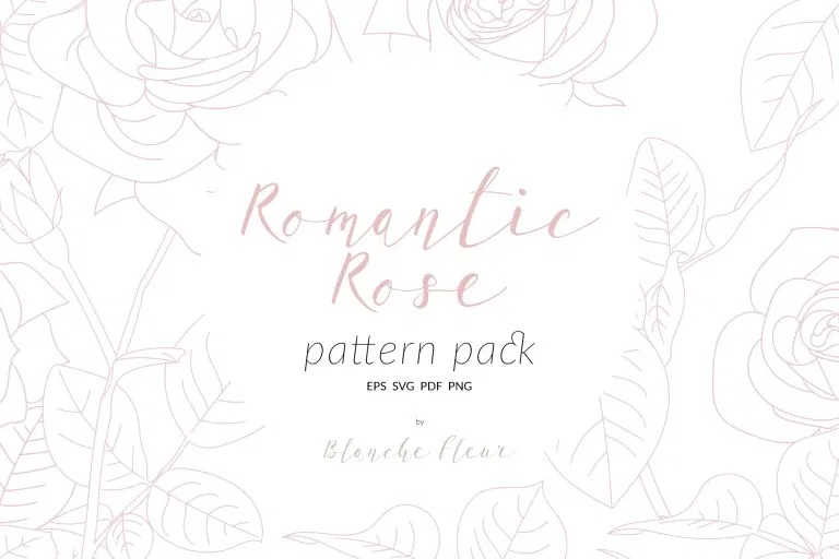 Download Romantic Rose Pattern Pack | Romantic roses, Wedding ...