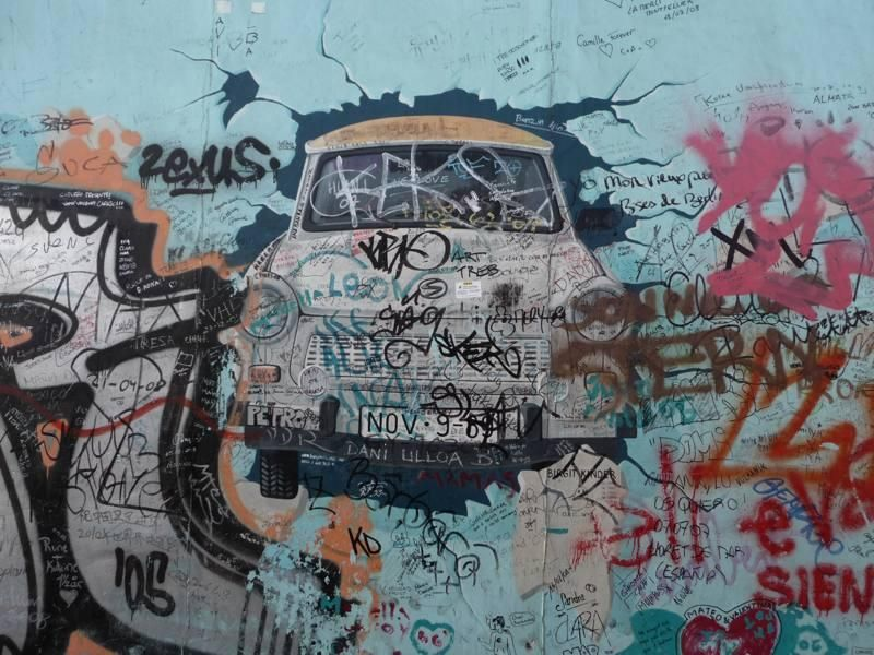 Mur De Berlin Tag Graffiti Pris Sur Le Net Mur De Berlin Toile Imprimee Les Arts