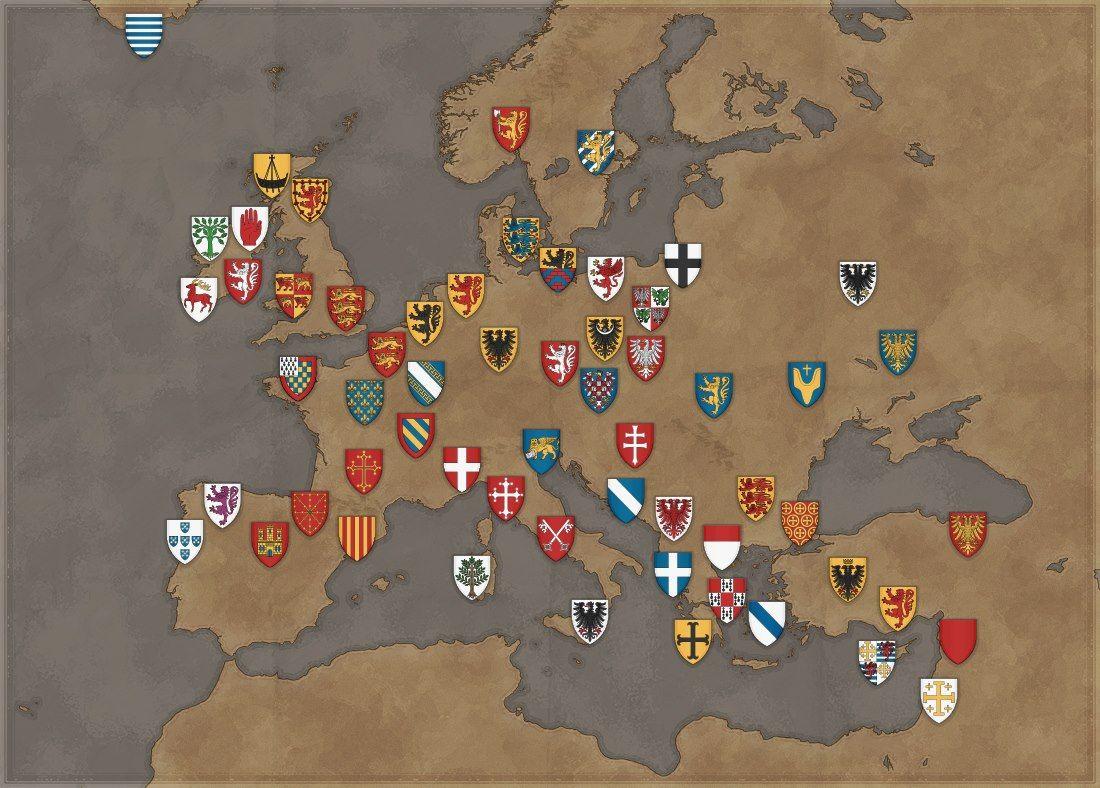 Blasones medievales en Europa