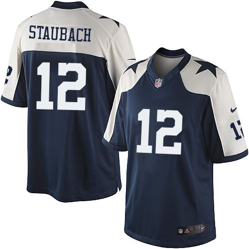 f68c040e4 Nike Limited Roger Staubach Navy Blue Men's Jersey - Dallas Cowboys #12 NFL  Throwback Alternate