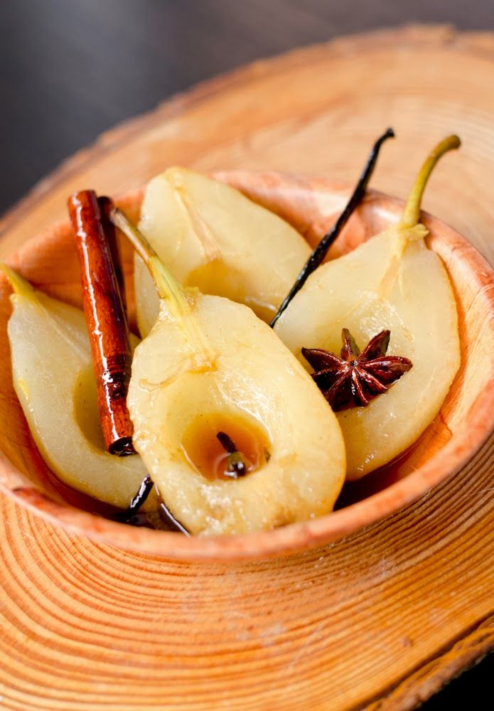 Pears in syrup with spices