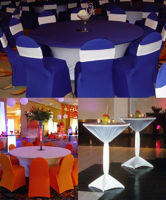 Linen Rentals Parties Weddings Spandex Cocktail Table Decor Table Linen Rentals Table Inspiration