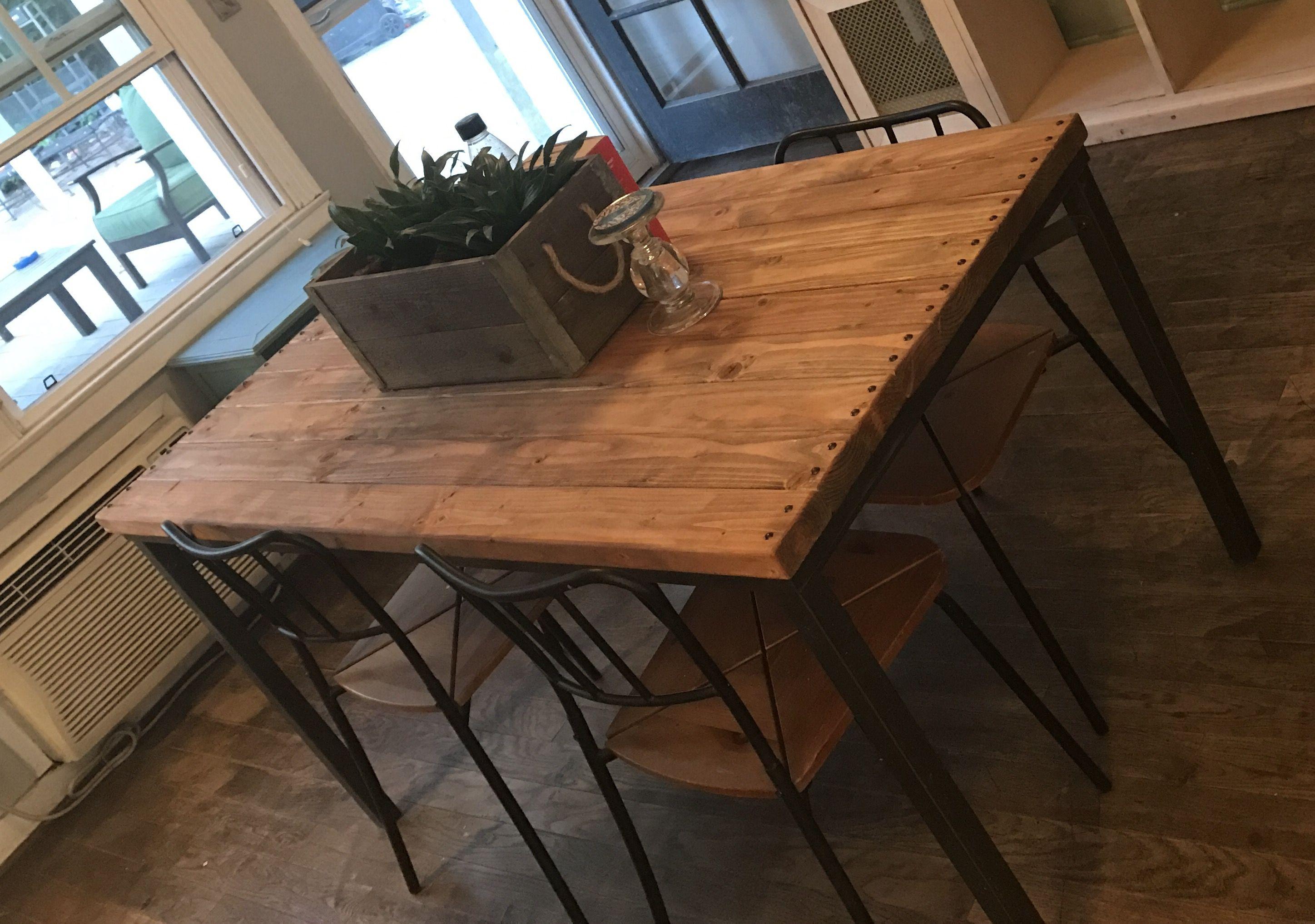 Ikea Granas Table Hack Using 2x4 Boards And Decorative Tacks