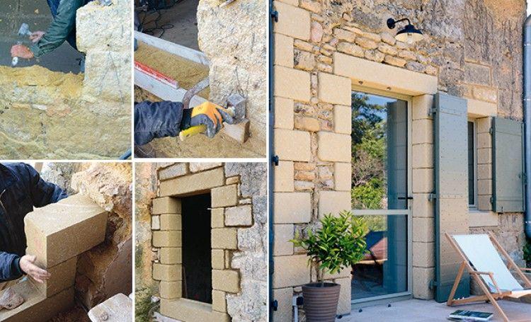 Comment réaliser une ouverture dans un mur en pierres ?