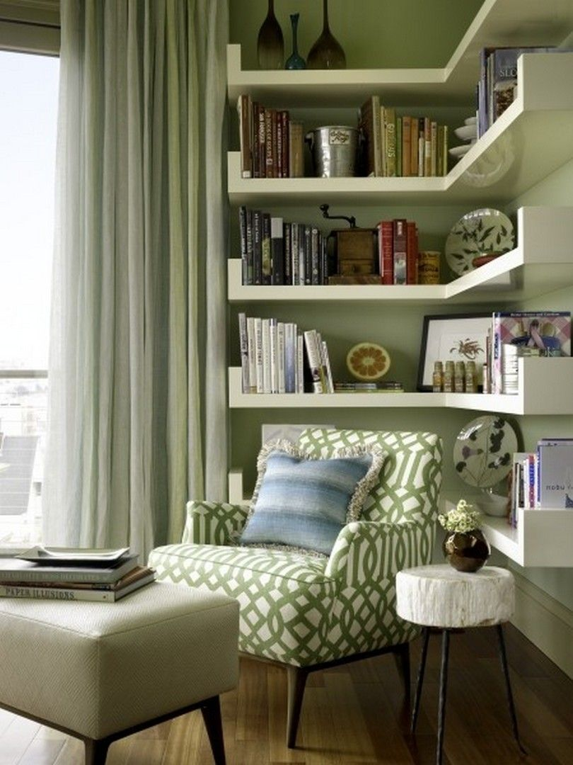 30 Clever Ideas Small Corner Shelves for Living Room Design images