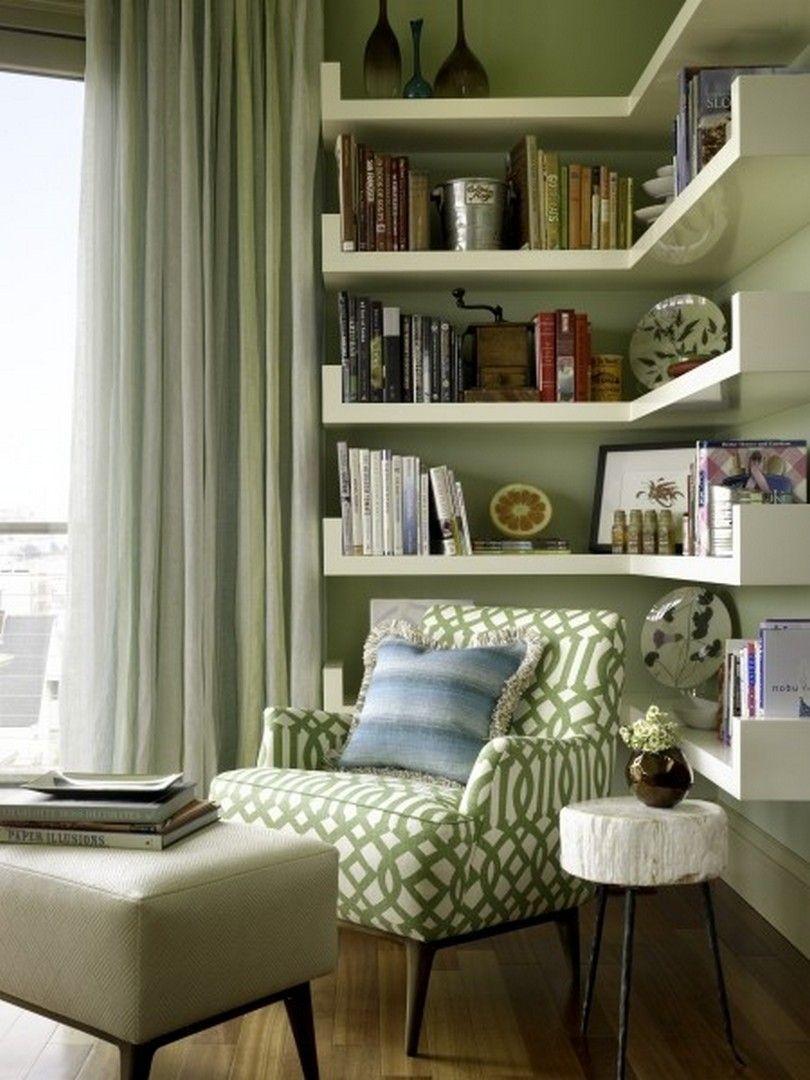 30 Clever Ideas Small Corner Shelves for Living Room