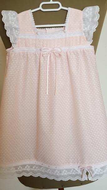 14a6a55a1c Pijamas Para Niñas · Camisón NIÑA T-2 batista rosa Ref.008-16 por  LenceriaMontseTorres Vestidos Niña