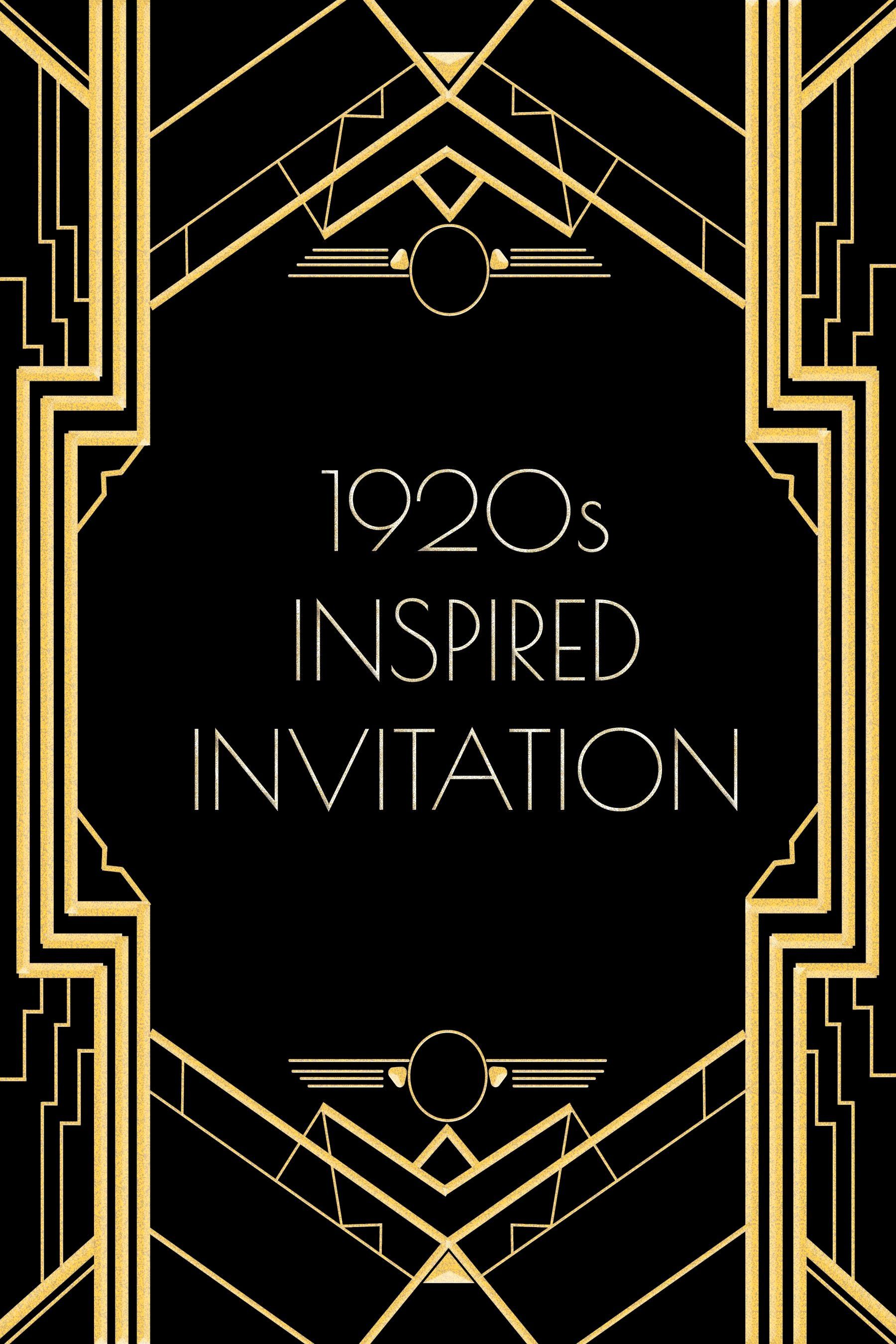 Great Gatsby Party Invitation Template Free Unique Use This 5s