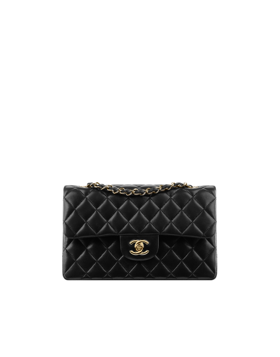 3a0217e65b Small classic flap bag, lambskin & gold metal-black - CHANEL ...