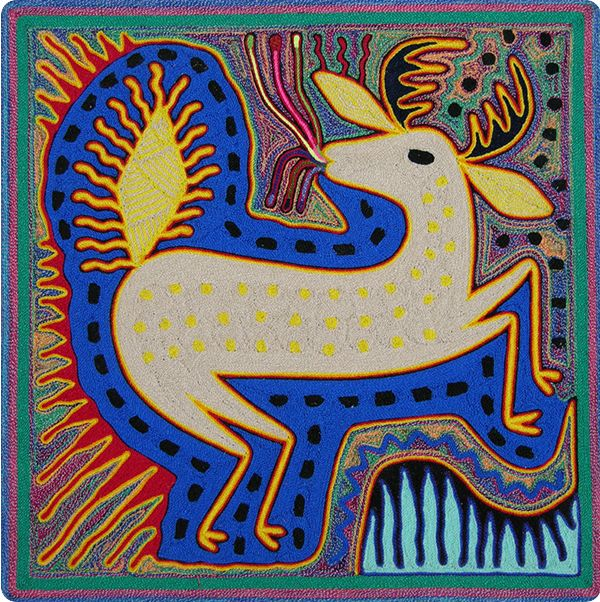 Huichol Yarn Painting | Art & Culture | Pinterest | Yarns ...