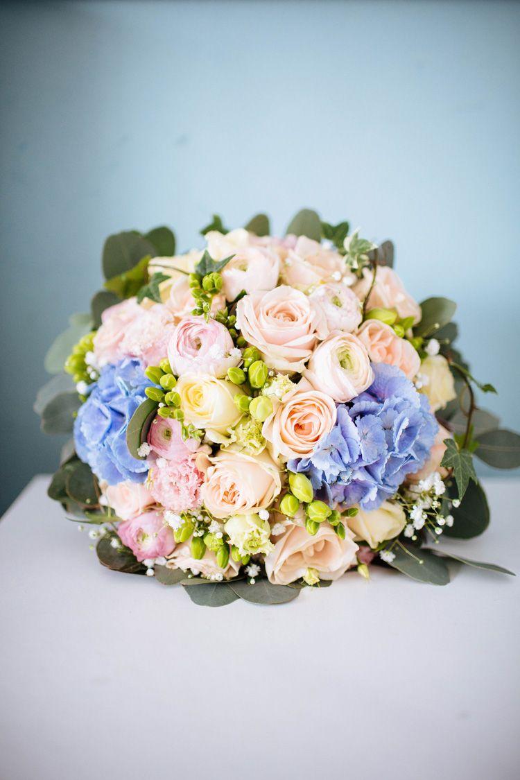 Pastel blue wedding decor  Enchanted English Country Garden Wedding  Wedding disney English