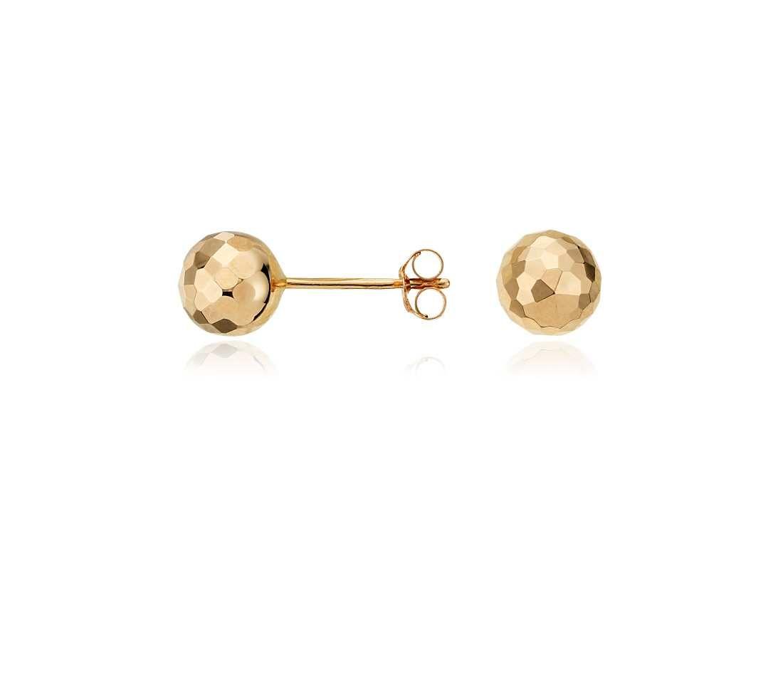 Blue Nile Bead Ball Stud Earrings in 14k Rose Gold (6mm) hTR0O6