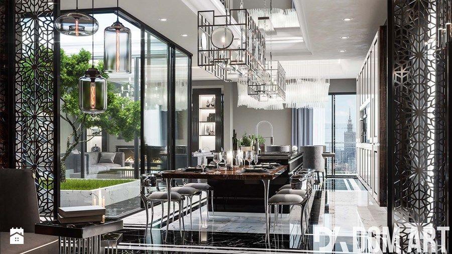 Aranżacje Wnętrz Kuchnia Apartament Art Deco W Warszawie