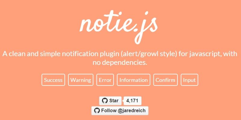A neat and simple-to-use alert/growl style notifications