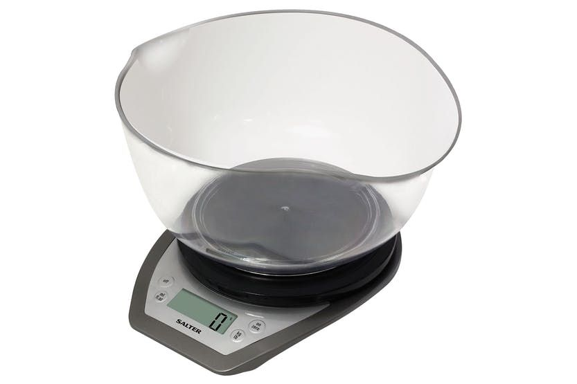 Salter Mixing Bowl Kitchen Scales | 1024SVDR | Silver