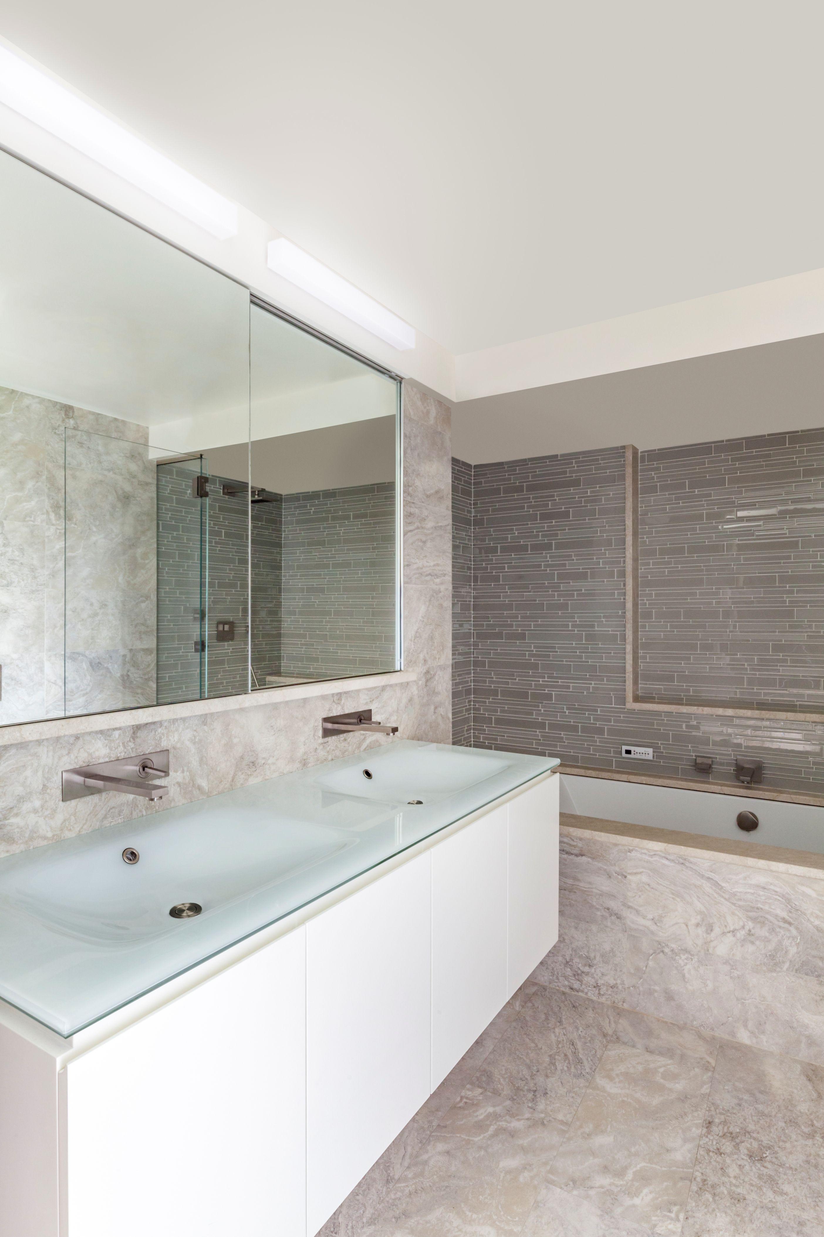 Modern Master Bathroom   Designed by Pier, Fine Associates   www ...