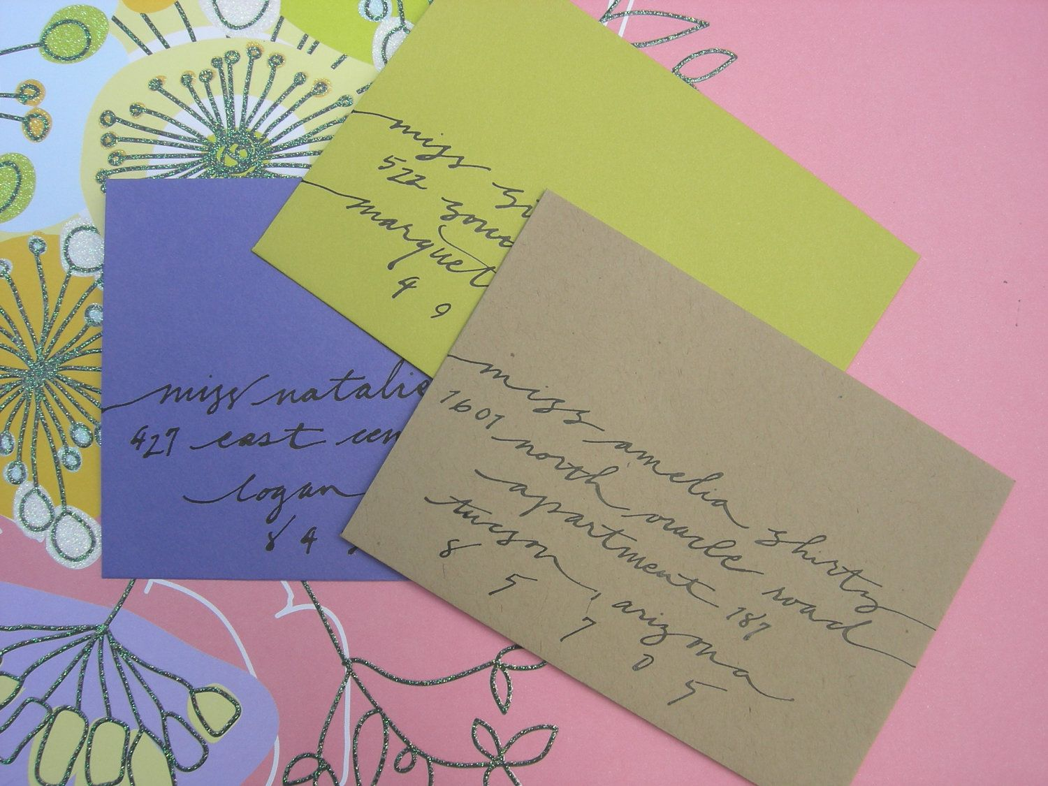 Custom Wedding Calligraphy Envelope Addressing :  Informal Script Styling. $1.00, via Etsy.