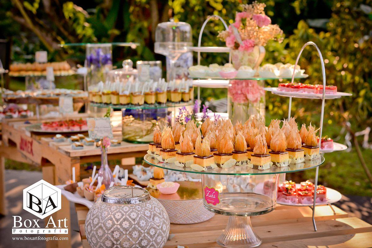 Mesa de postres tem tica vintage mesa de postres - Postres para mesa de dulces ...