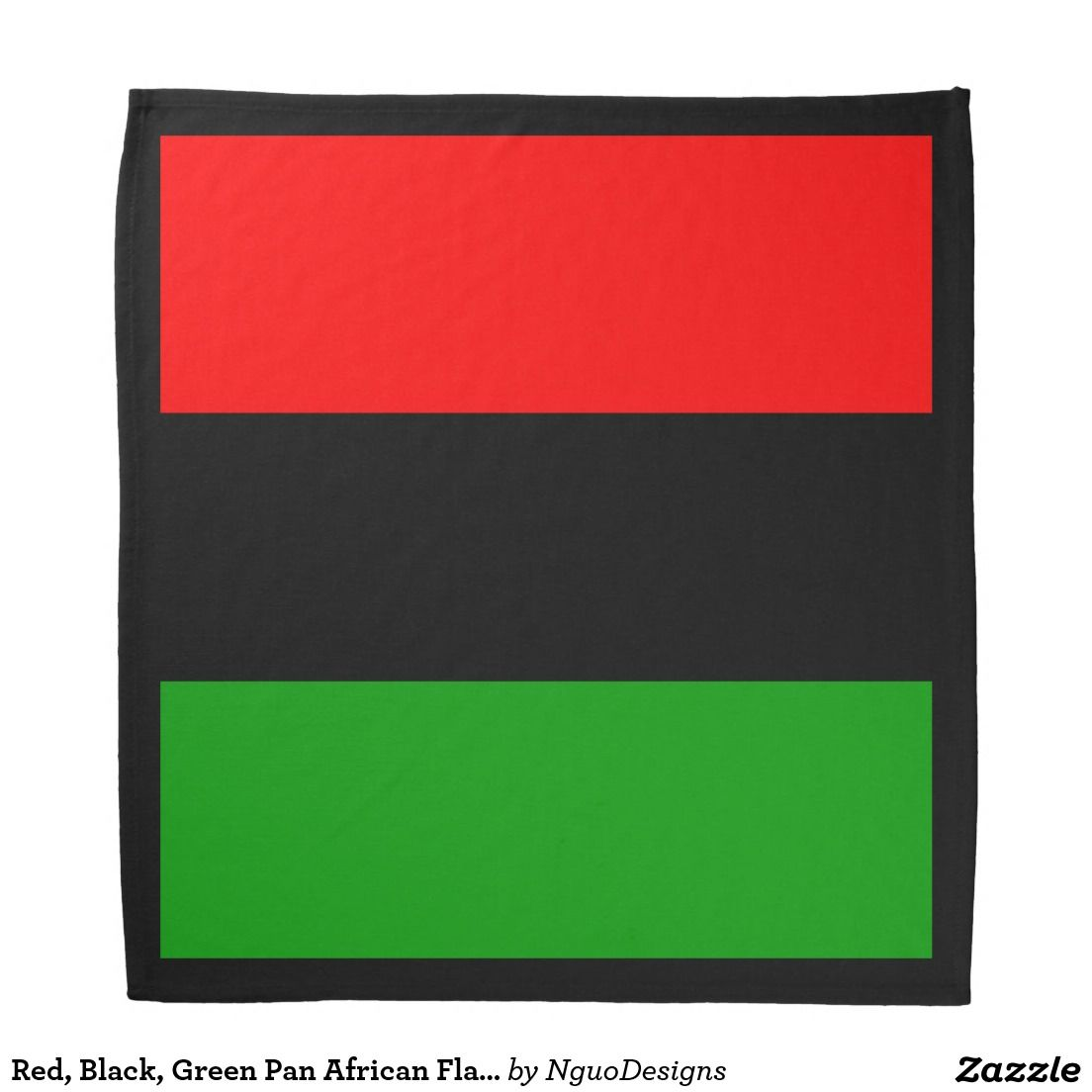 Red Black Green Pan African Flag Black Border Bandana Zazzle Com Pan African Flag African Black Liberation Flag