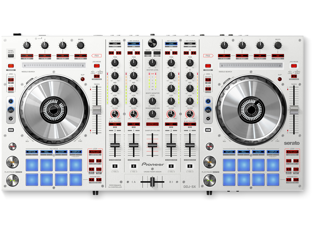 DDJ-SX-W (archived) 4-channel Serato DJ controller with performance