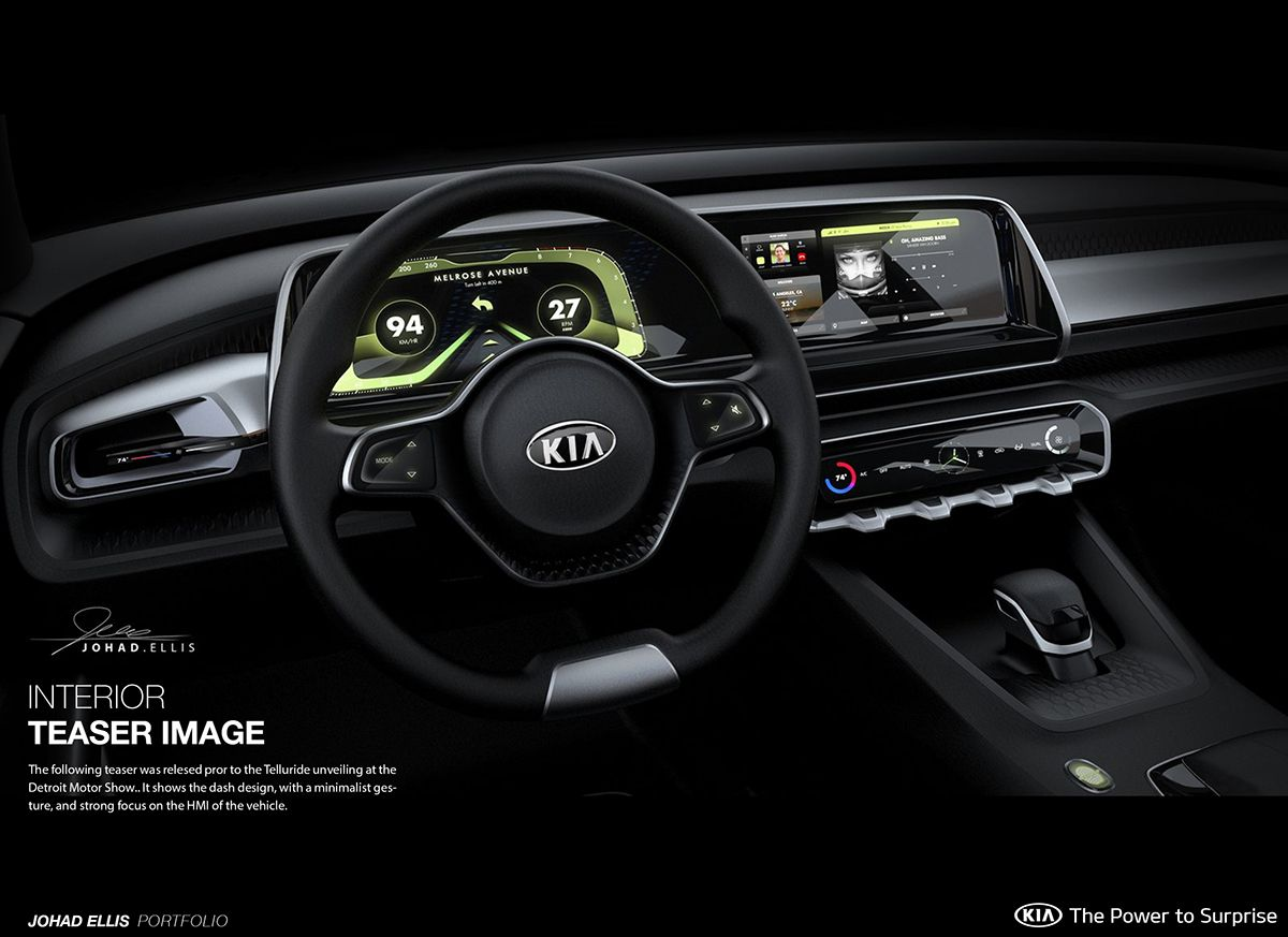 Kia telluride concept interior naias on behance also automotive rh pinterest