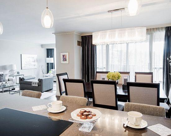Elegant Formal Dining Room Furnished With Modern Furniture With Beauteous Simple Elegant Living Room Design Design Decoration