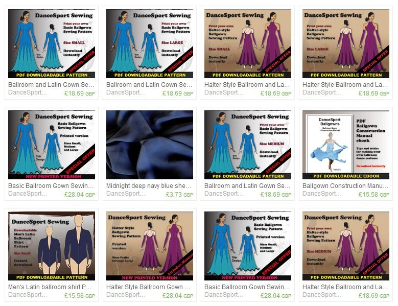 DanceSportSewing Patterns, sewing guides, fabrics for ballroom ...