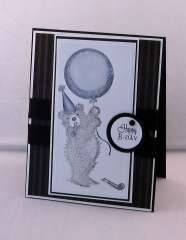 """""""Black and White Birthday"""" by Stacy  Morgan on House-Mouse Designs®"""