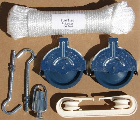 Uc Pulley Clothesline Kit Bolts Rope Laundry Helps Tips