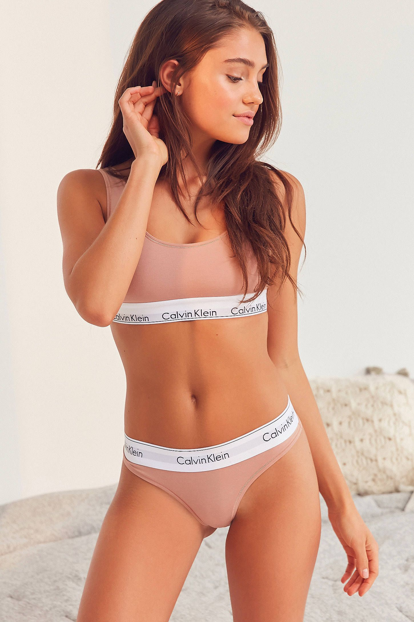 68bd9e8a1b Shop the Calvin Klein Modern Cotton Thong and more Urban Outfitters at  Urban Outfitters. Read customer reviews