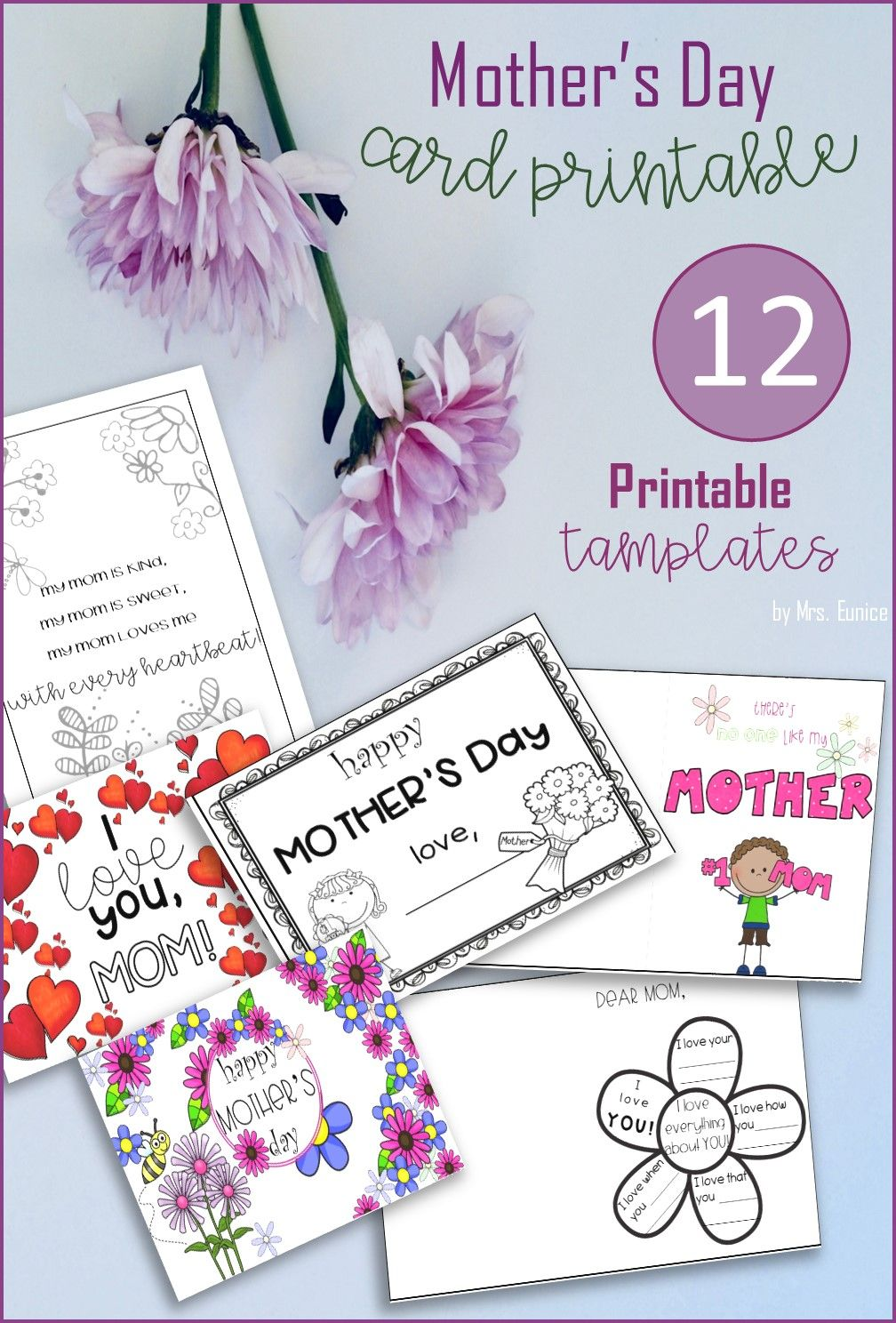 Editable Mother S Day Cards Printable Templates Mothers Day Cards Printable Mothers Day Card Template Mothers Day Cards