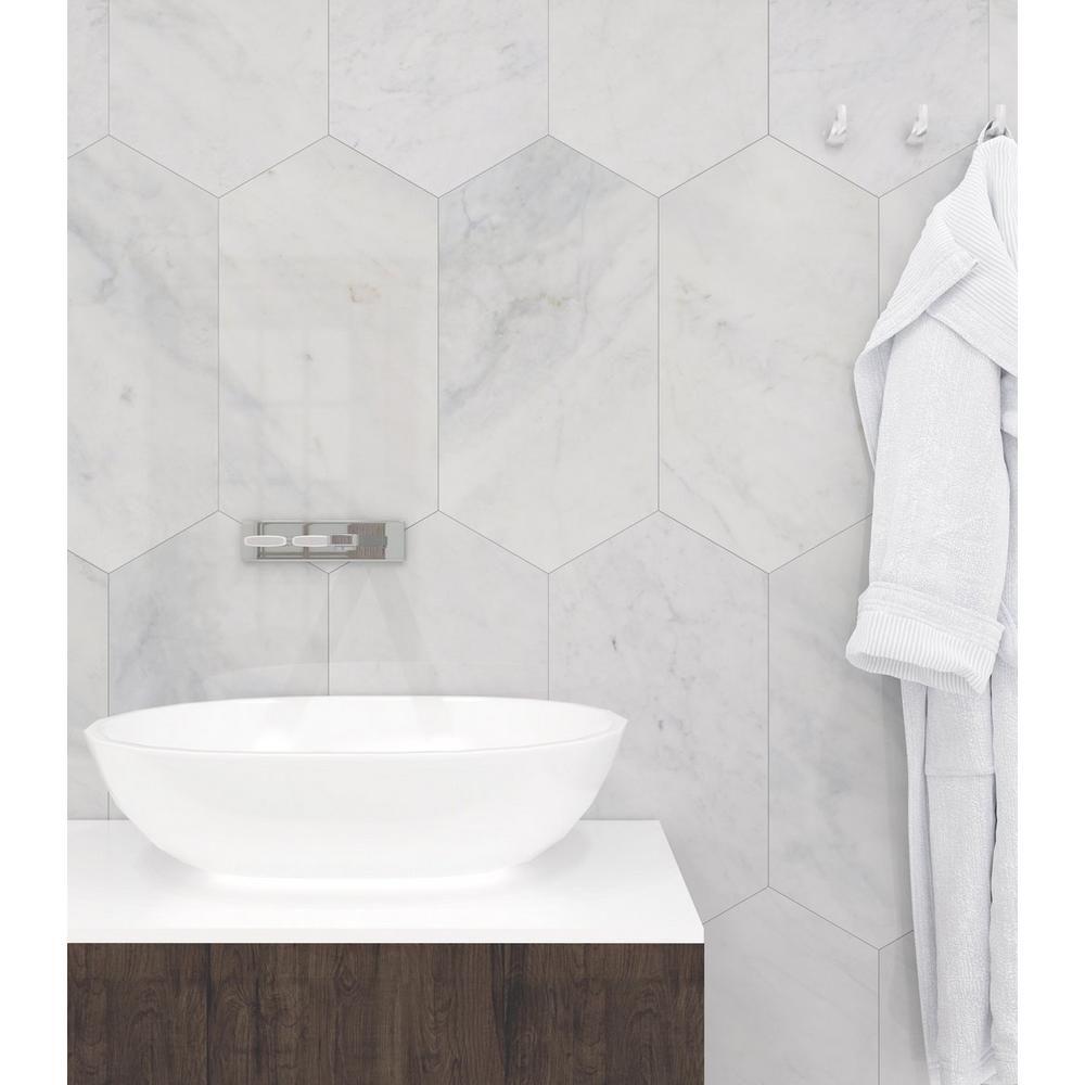 Bianco Blanco Oblong Marble Tile Floor Decor Marble Bathroom Shower Tile
