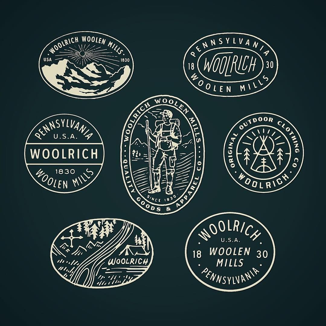 Vintage Logo Design Inspiration: Style Exploration #wip #graphicdesign @woolrichinc