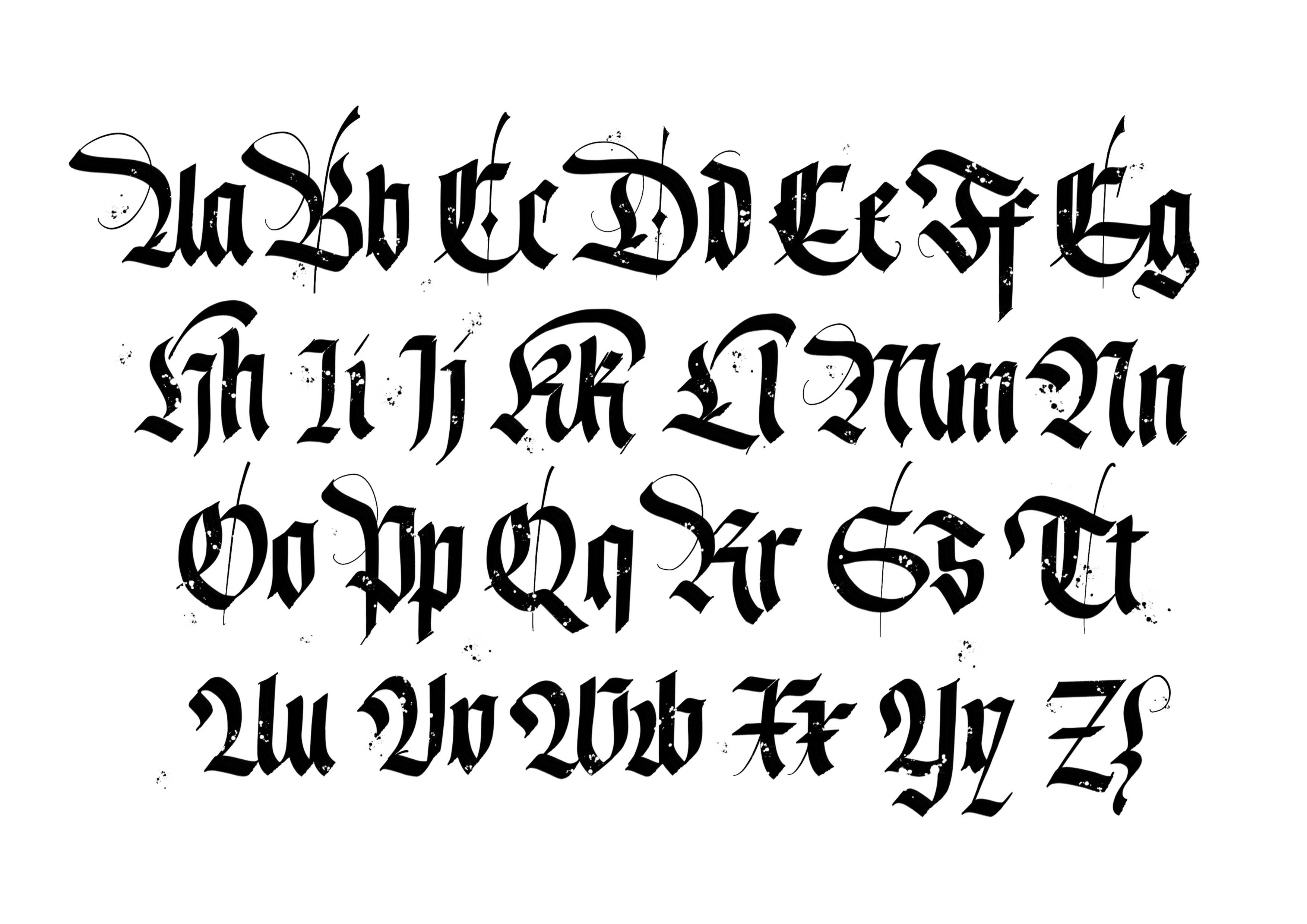 Download Blackletter Brush Pack for Procreate   Lettering alphabet ...