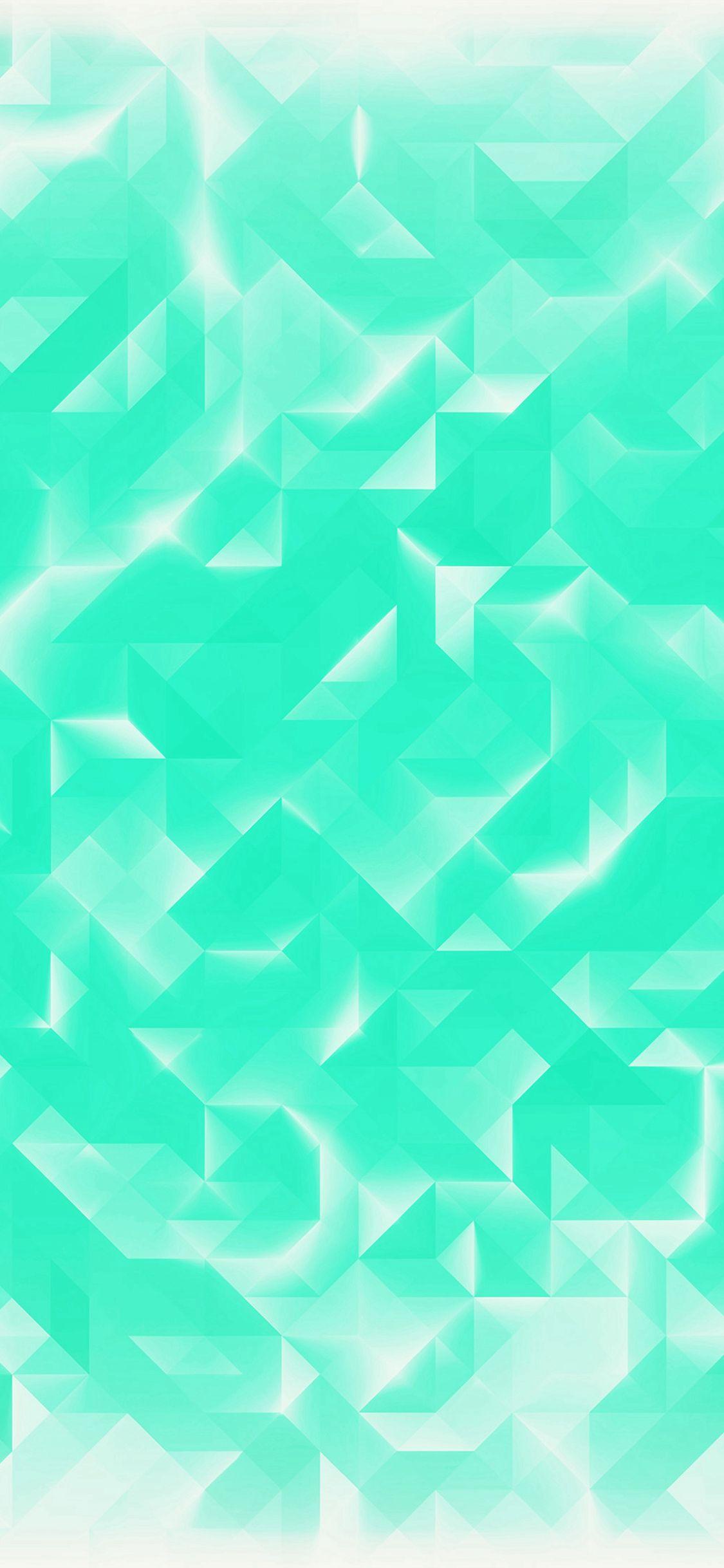 Green Polygon White Pattern IPhone X Wallpaper