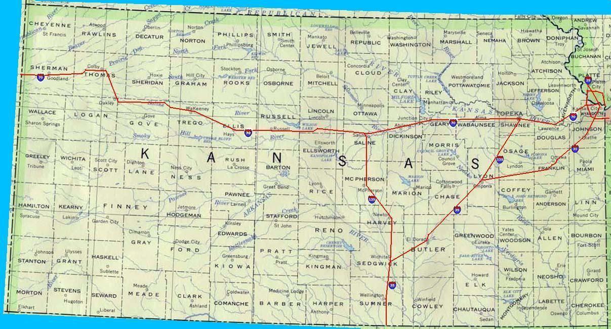 map of kansas County Map of Kansas For the Home Pinterest Kansas