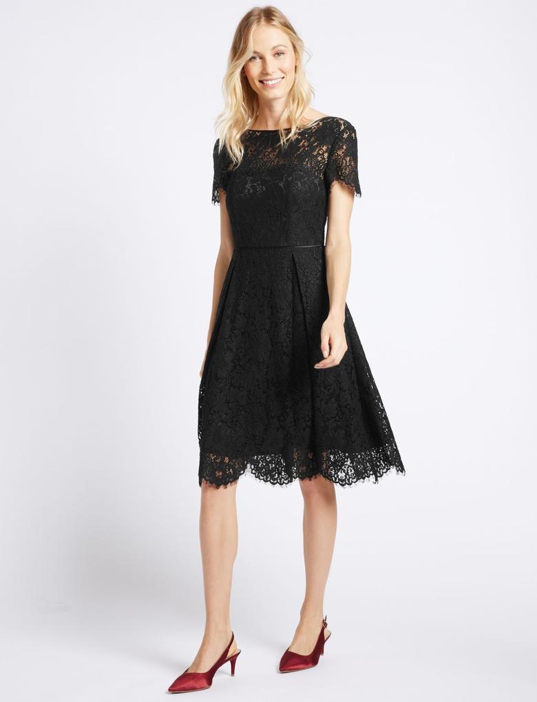 Photo of Black Lace Detail Dress #Lace Dress #Dress #Women #Women's Fashion #Beautiful …