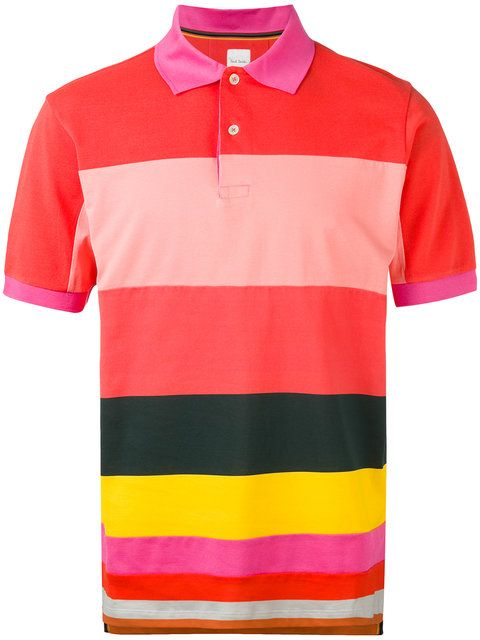 Shop Paul Smith stripe panel polo shirt .  5b4622f3f101d