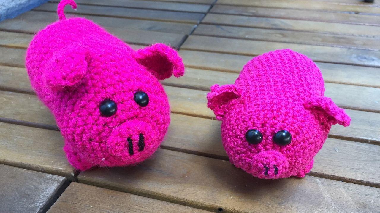 Schwein Häkeln, Videoanleitung. Schnell und Einfach. Amigurumi ...