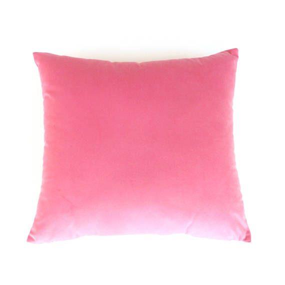Pink Velvet Pillow Cover Plain Pink Cushion Pink Velour