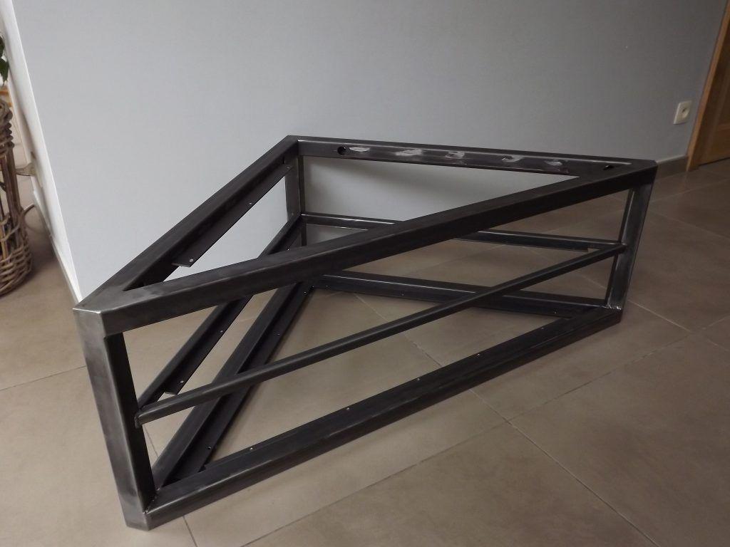Structure M Tallique Pour Meuble Tv En Coin Suspendu Prix Sur  # Meuble Tv Cube Suspendu